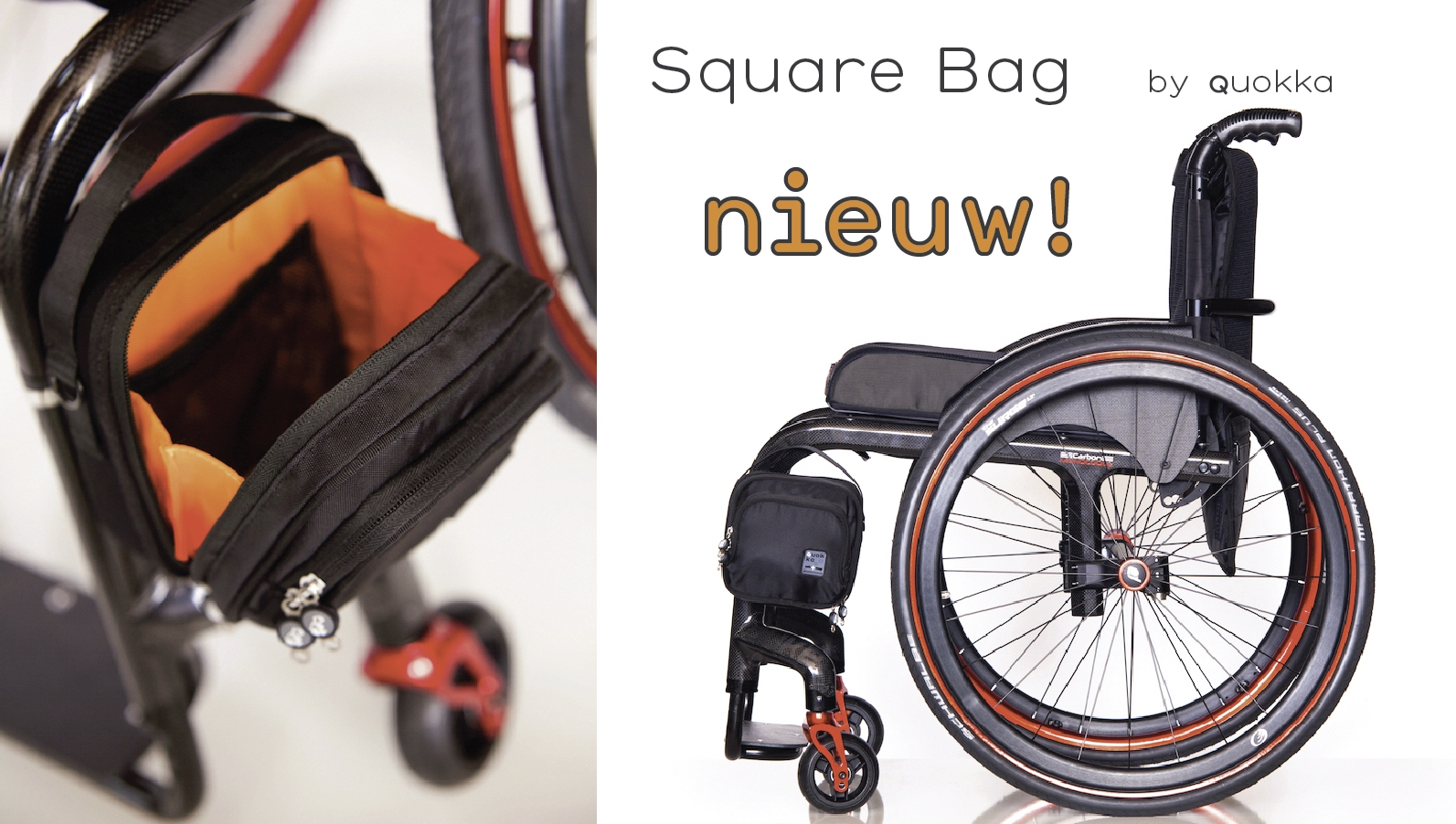 QUOKKA Square Bag SQ-ZW: The most accessible wheelchair bag